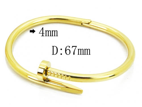 HY Wholesale 316L Stainless Steel Bangle-HY14B0182HIX
