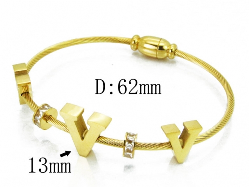 HY Wholesale 316L Stainless Steel Bangle-HY19B0040HNE