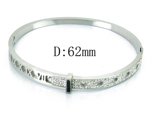 HY Wholesale Stainless Steel 316L Bangle(Crystal)-HY19B0027HMX