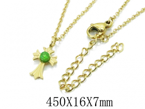 HY Wholesale 316L Stainless Steel Necklace-HY20N0018ND