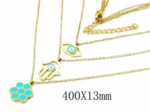 HY Wholesale 316L Stainless Steel Necklace-HY20N0067HNQ