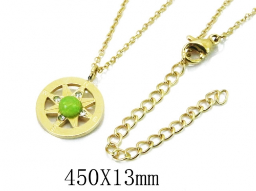HY Wholesale 316L Stainless Steel Necklace-HY20N0009NB