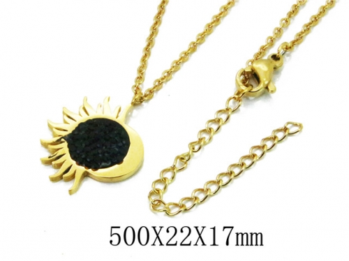 HY Wholesale 316L Stainless Steel Necklace-HY20N0013OA