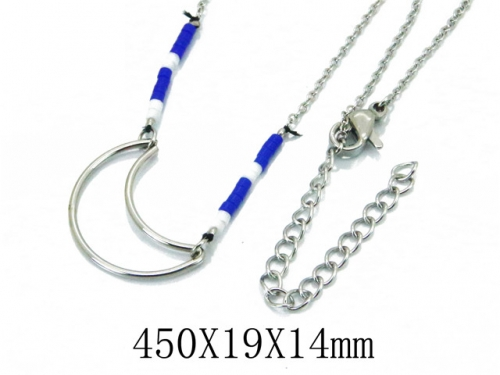 HY Wholesale 316L Stainless Steel Necklace-HY20N0001NS