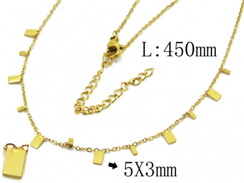 HY Wholesale 316L Stainless Steel Necklace-HY20N0051HIA