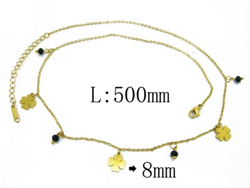 HY Wholesale 316L Stainless Steel Necklace-HY24N0002HHX
