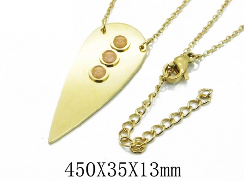 HY Wholesale 316L Stainless Steel Necklace-HY20N0008HFF