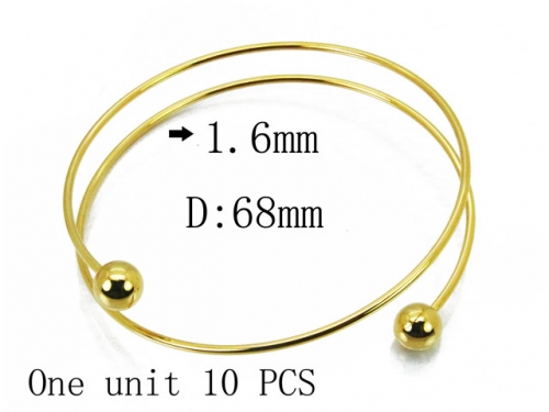 HY Wholesale 316L Stainless Steel Bangle-HY70B0584KFF