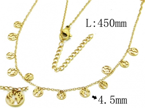 HY Wholesale 316L Stainless Steel Necklace-HY20N0053HID