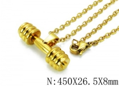 HY Wholesale 316L Stainless Steel Necklace-HY12N0020PZ
