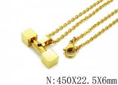 HY Wholesale 316L Stainless Steel Necklace-HY12N0021OZ