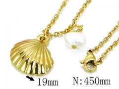 HY Stainless Steel 316L Necklaces (Pearl Style)-HY12N0511MS