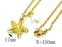 HY Stainless Steel 316L Necklaces (Pearl Style)-HY12N0512MD