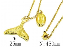 HY Wholesale 316L Stainless Steel Necklace-HY12N0508MQ