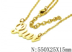 HY Wholesale 316L Stainless Steel Necklace-HY12N0023MZ