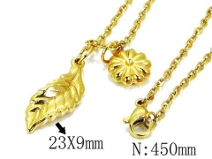 HY Wholesale 316L Stainless Steel Necklace-HY12N0510MD