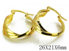 HY Stainless Steel Twisted Earrings-HY70E0252MZ