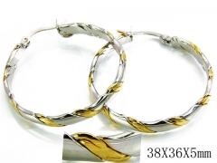 HY Stainless Steel Twisted Earrings-HY70E0123MZ