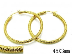 HY Stainless Steel Twisted Earrings-HY89E0031KL
