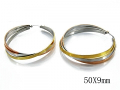 HY Stainless Steel Twisted Earrings-HY58E0186P0