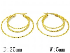 HY Stainless Steel Twisted Earrings-HY68E0022O0