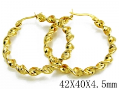 HY Stainless Steel Twisted Earrings-HY70E0133LZ